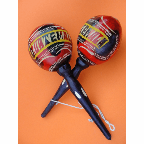 COLORFUL GUATEMALAN MARACAS