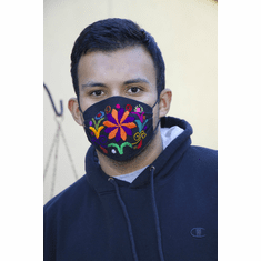 EMBROIDERED FACE MASK 100% COTTON