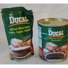 FRIJOLES VOLTEADOS (REFRIED BLACK BEANS) 29 oz.