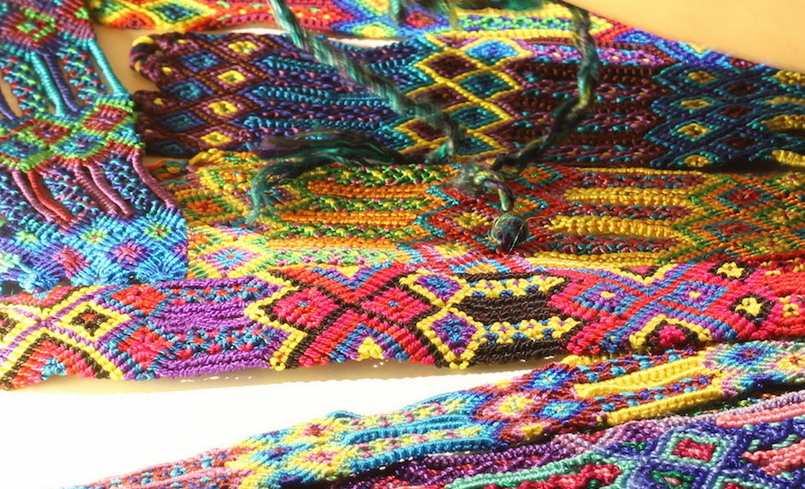 GUATEMALAN 100%  COTTON FRIENDSHIP BRACELET