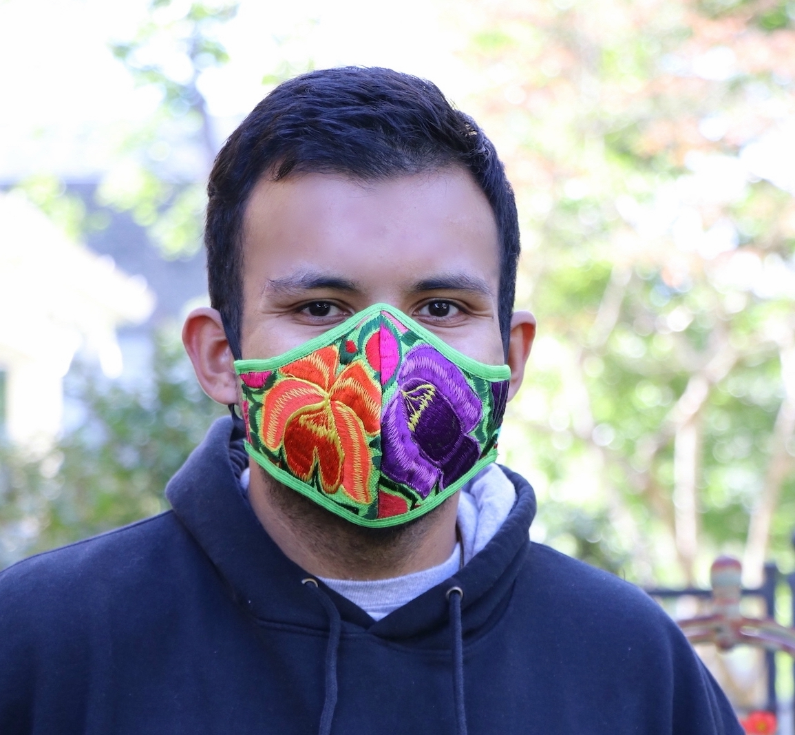 GUATEMALAN EMBROIDERED FLORAL FACE MASK