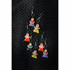 GUATEMALAN HAND PAINTED CERAMIC EARRINGS (Free Shipping)