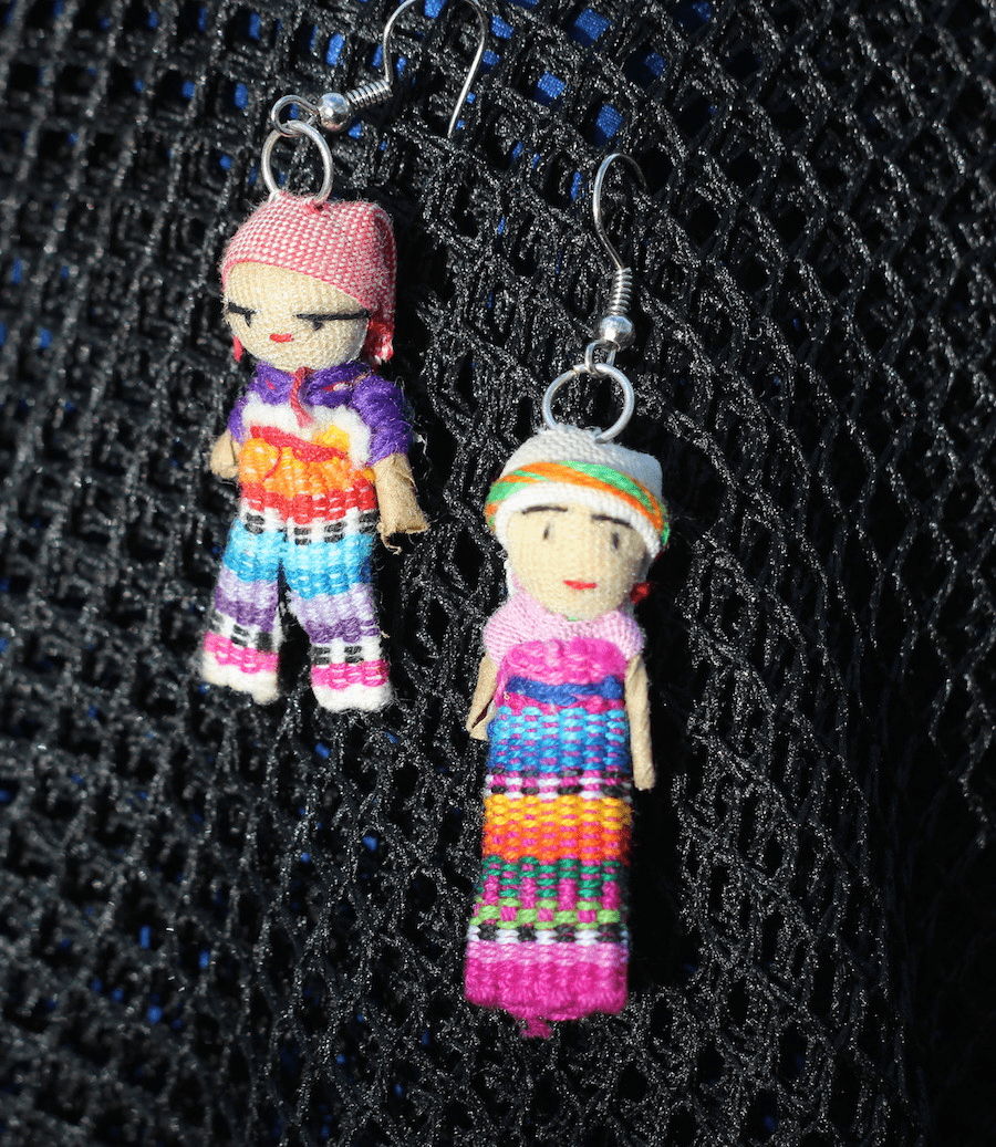 GUATEMALAN WORRY DOLL EARRINGS
