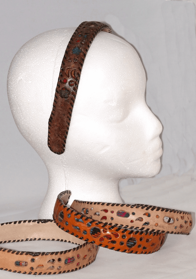 LEATHER FABRIC HEADBAND