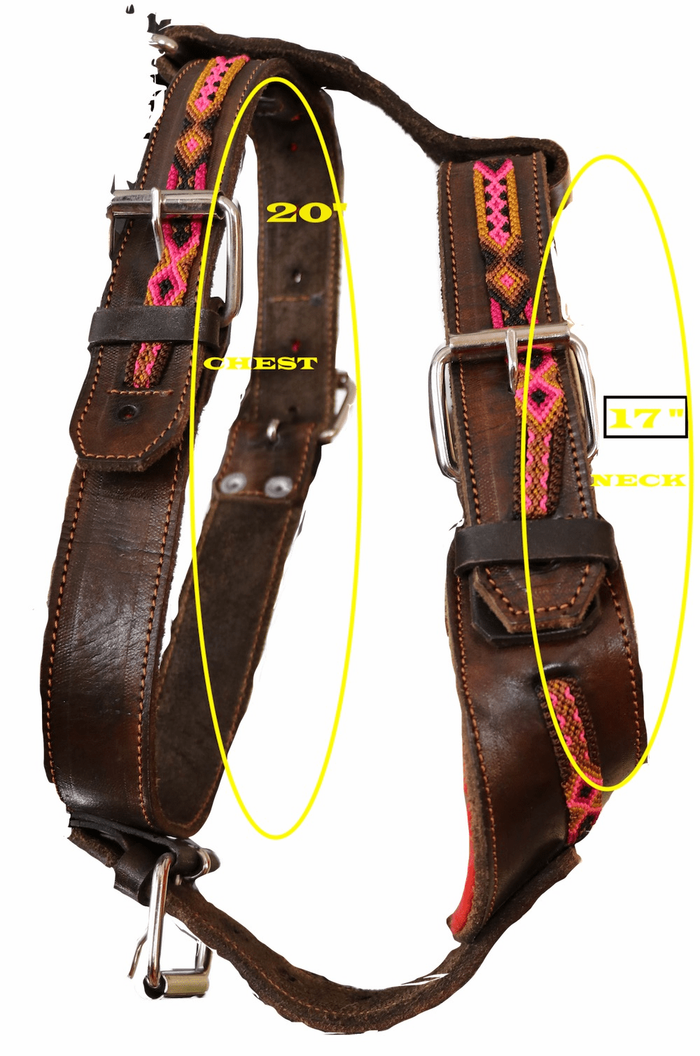 MEDIUM WOVEN LEATHER HARNESS