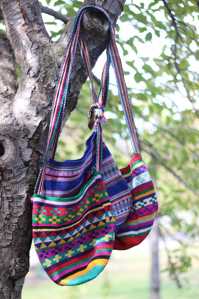 MULTICOLOR 100% COTTON BAGS FROM GUATEMALA
