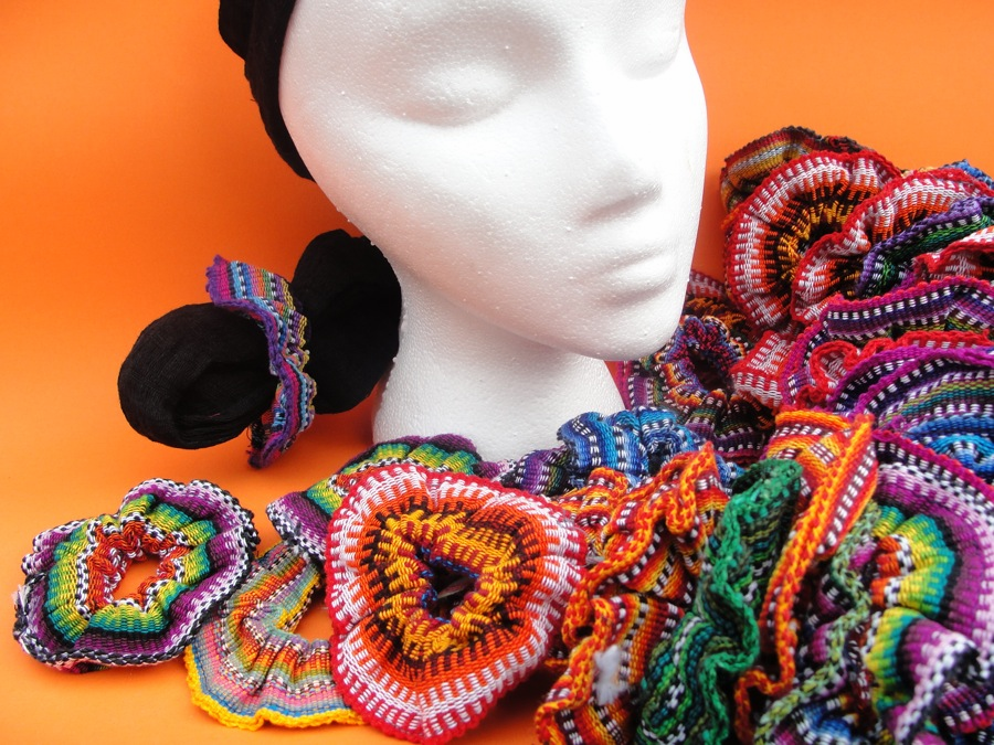 MULTICOLOR HAIR SCRUNCHIES FROM GUATEMALA