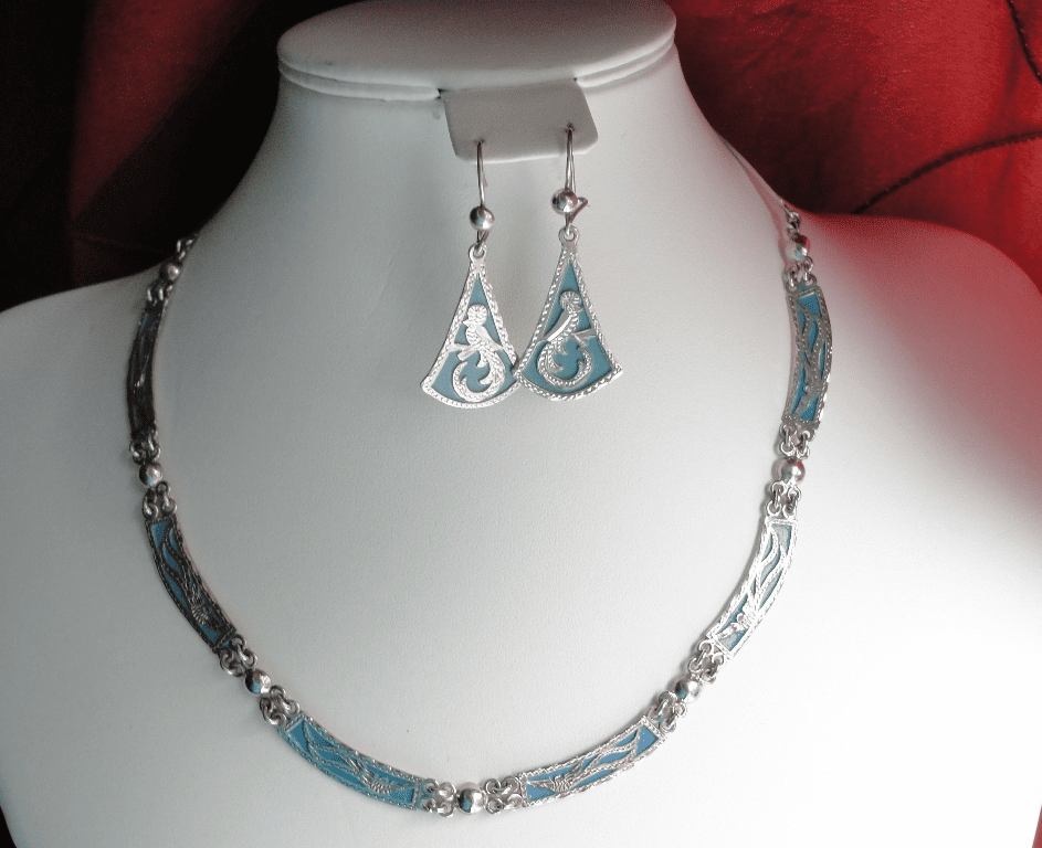 QUETZAL  NECKLACE STERLING SILVER