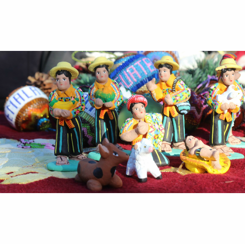 SAN JUAN SACATEPEQUEZ NATIVITY SET
