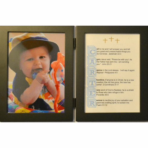 5X7 Double frame Baby Block with 1 Name Your Verse