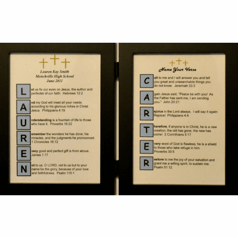 Color Block 5X7 Double Frame with 2 Name Your Verses