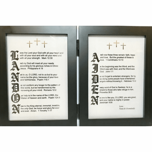 Old English 5X7 Double frame with 2 Name Yoour Verses