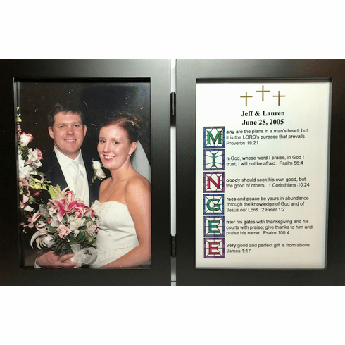 Stained Glass 5X7 Double Frame  with 1 Name Your Verse