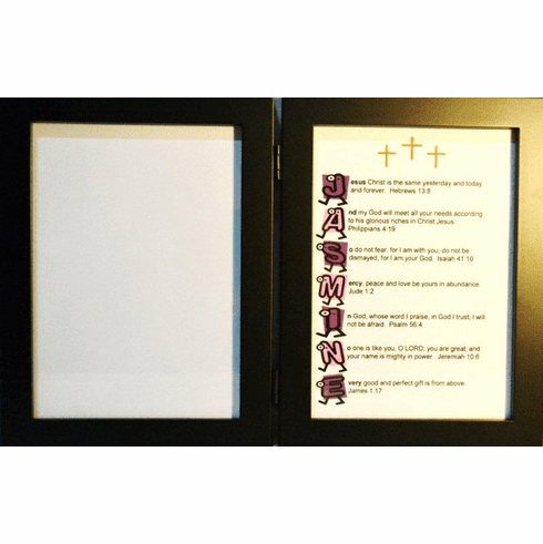 Walking Feet 5X7 Double Frame with 1 Name Your Verse