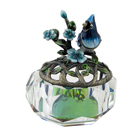 Blue Jay Atop Crystal Jewelry Box Clear