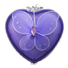 Butterfly Glass Jewelry Box Heart Available in 3 Colors