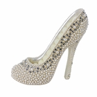 Pearl Crystal Shoe Ring Holder