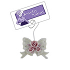 Rose Place Card Holder with Crystals