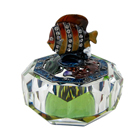 Tropical Fish Atop Crystal Jewelry Box Clear