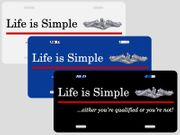 Life is Simple<br>License Plate