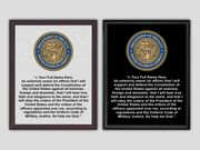 Oath of Enlistment Plaque