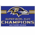 2013 Superbowl XLVII Champions Baltimore Ravens Flag 3x5