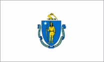 Massachusetts State Flag 3x5