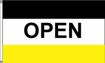 Open Flag (Black/Yellow)