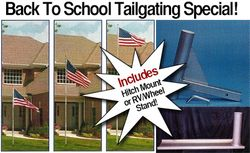 Original Telescoping Flagpole 20 Foot Silver with Choice of Mount! - Will ship the week of November 20
