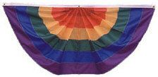 Rainbow Pleated Fan