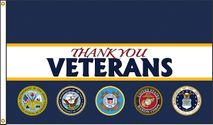Thank You Veterans Pinstripe Flag 3x5