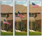 The Original Telescoping Flagpole 20 Foot Silver - Will ship the week of August 20