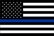 Thin Blue Line U.S. Flag 3x5  -
