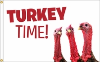 Turkey Time Flag 3x5
