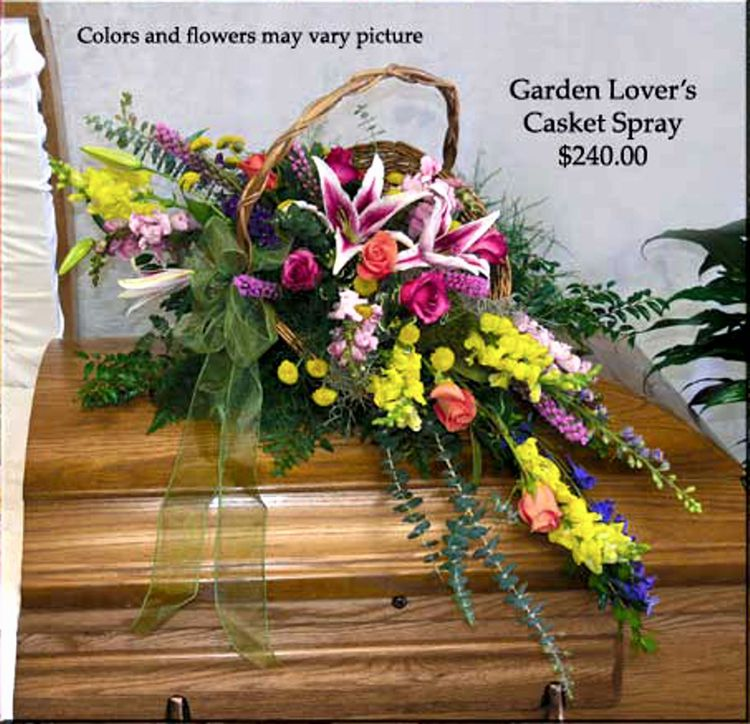 Garden Lover's Casket Spray