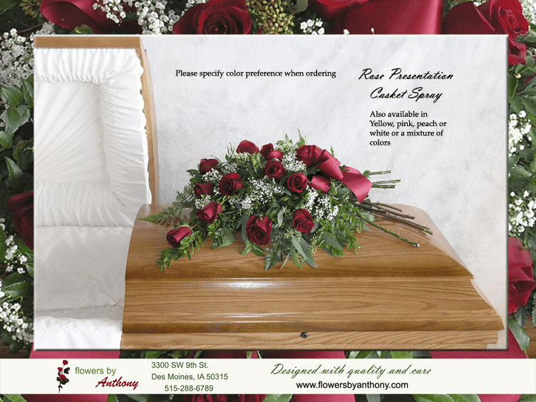 Rose Presentation Casket Spray