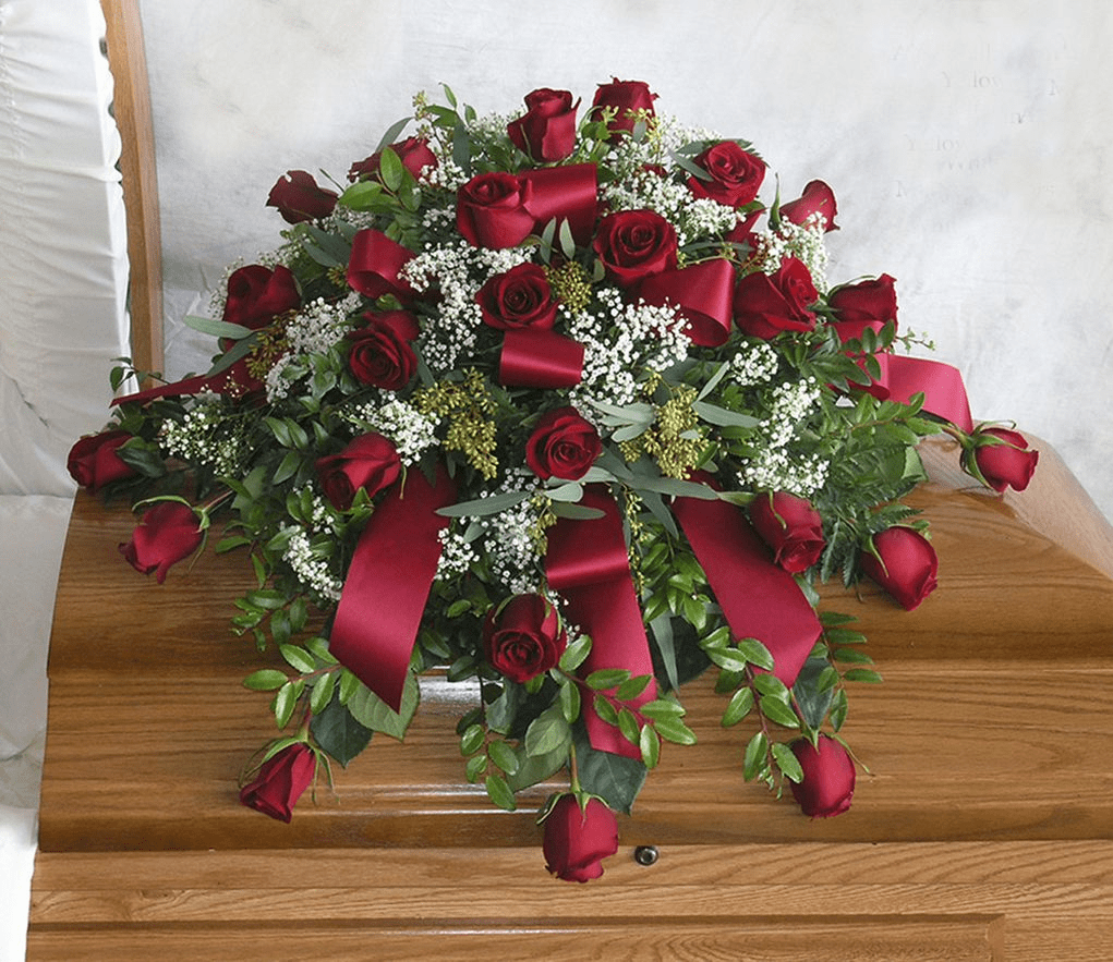 Simply Roses Casket Spray