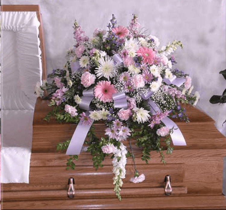 Soft Whisper Casket Spray