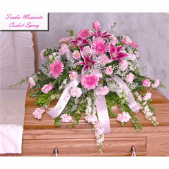 Tender Moments Casket Spray