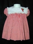 "<img src=""https://p11.secure.hostingprod.com/@grammies-attic.com/ssl/images/blue-sold-1.gif""> 1950s Red Striped Cotton Nannette Dress with Strawberry Applique"
