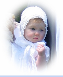 <strong>Baby Clara in 1890s Christening Bonnet</strong>