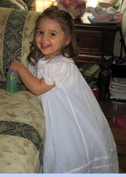 NEW Will'Beth White Bishop Smocked Dress with Lavender Ruffled Slip for Babies, Toddlers, and Little Girls (CC0647)