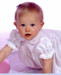 <strong>Baby Natalie in Classic Polly Flinders Dress
