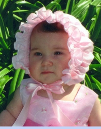 NEW Custom Made Pink Hand Smocked Baby Bonnet with French Lace Trim (BB05140)