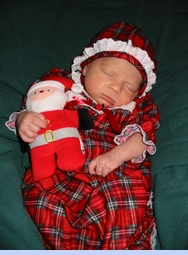 <strong>Baby Ruby Layne in Christmas Nightgown</strong>