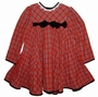 "<img src=""https://p11.secure.hostingprod.com/@grammies-attic.com/ssl/images/blue-sold-1.gif""> Bonnie Jean Red Plaid Pleated Dress with Velvet Bows"