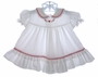 """<img src=""""https://p11.secure.hostingprod.com/@grammies-attic.com/ssl/images/blue-sold-1.gif""""> Bryan White Ruffled Baby Dress with Heart Embroidery"""
