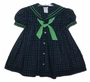 """<img src=""""https://p11.secure.hostingprod.com/@grammies-attic.com/ssl/images/blue-sold-1.gif""""> C. I. Castro Navy and Green Plaid Sailor Dress for Toddlers and Little Girls"""