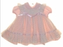 """<img src=""""https://p11.secure.hostingprod.com/@grammies-attic.com/ssl/images/blue-sold-1.gif""""> C. I. Castro Pink Dress and Pink Floral Striped Pinafore with Insertion Lace and Pink Satin Ribbon"""