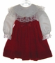 "<img src=""https://p11.secure.hostingprod.com/@grammies-attic.com/ssl/images/blue-sold-1.gif""> C. I. Castro Red Velvet Toddler Jumper with White Lace Trimmed Satin Blouse"